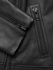 Camilla Pihl - Soho Leather Jacket - skinnjackor - black - 4