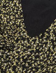 Camilla Pihl - Angelina Dress - midi dresses - black flower - 2