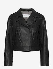 Camilla Pihl - Soho Leather Jacket - skinnjackor - black - 0