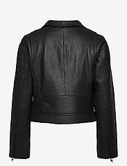Camilla Pihl - Soho Leather Jacket - skinnjackor - black - 2