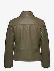 Camilla Pihl - Kendra Leather Jacket - skinnjackor - army - 1