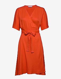 Osa dress - wrap dresses - bright red