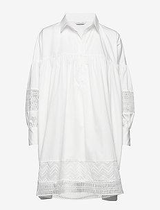 Mesima shirtdress - WHITE