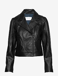City leather jacket - kurtki skórzane - black