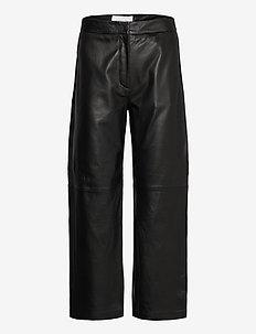 Rimo Leather Trouser - skinnbukser - black