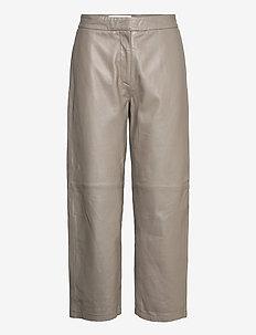 Rimo Leather Trouser - skinnbukser - taupe