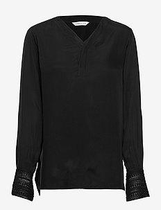Sonata Blouse - blouses med lange mouwen - black