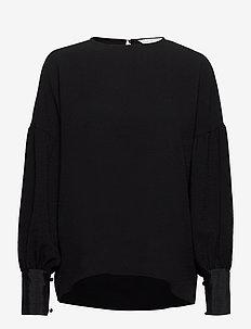 Moonlight Top - blouses med lange mouwen - black
