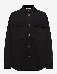 Sylvia Shirt - overshirts - black