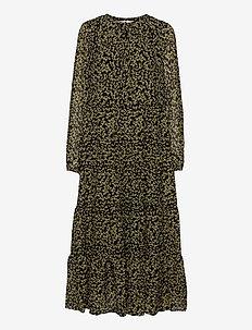 Mika Dress - maxi dresses - black flower