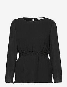 Vanessa Top - blouses med lange mouwen - black
