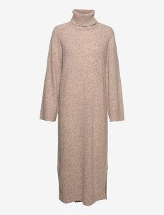 Evelyn Knit Dress - gebreide jurken - sand tweed melange