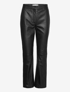Rene Leather Trouser - skinnbyxor - black