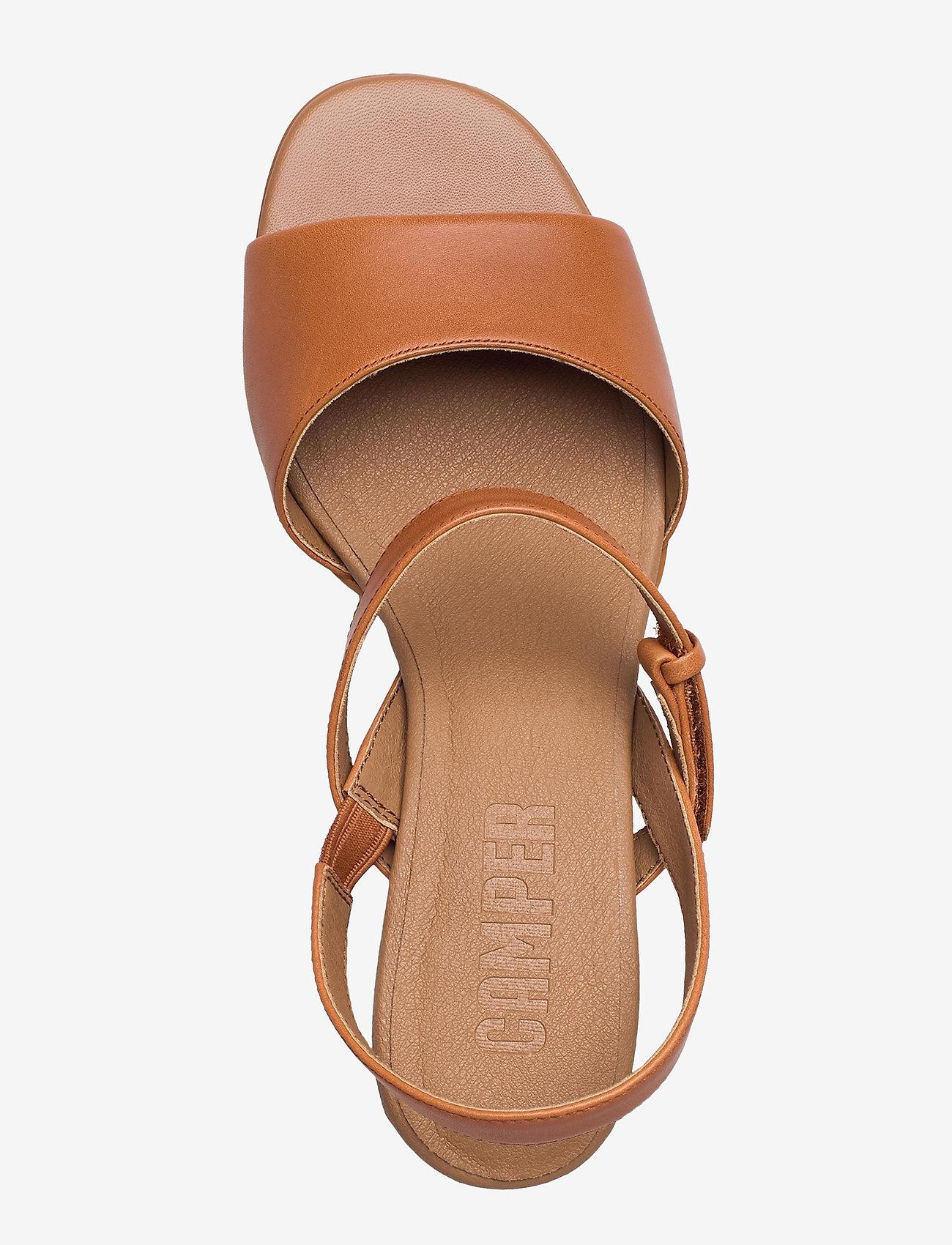 Camper - Katie Sandal - sandały na obcasie - medium brown - 3