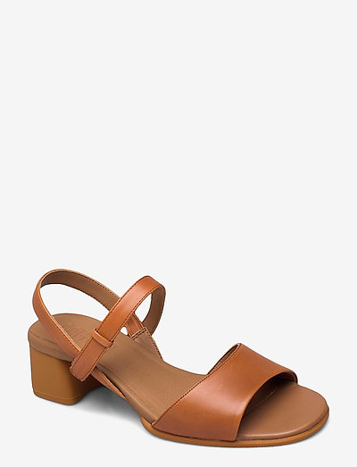 Katie Sandal - sandały na obcasie - medium brown