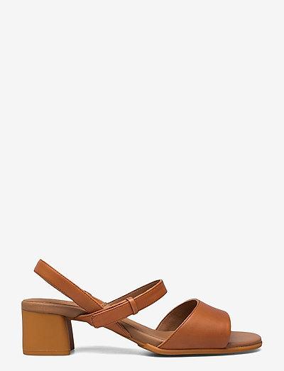 Katie Sandal - heeled sandals - medium brown