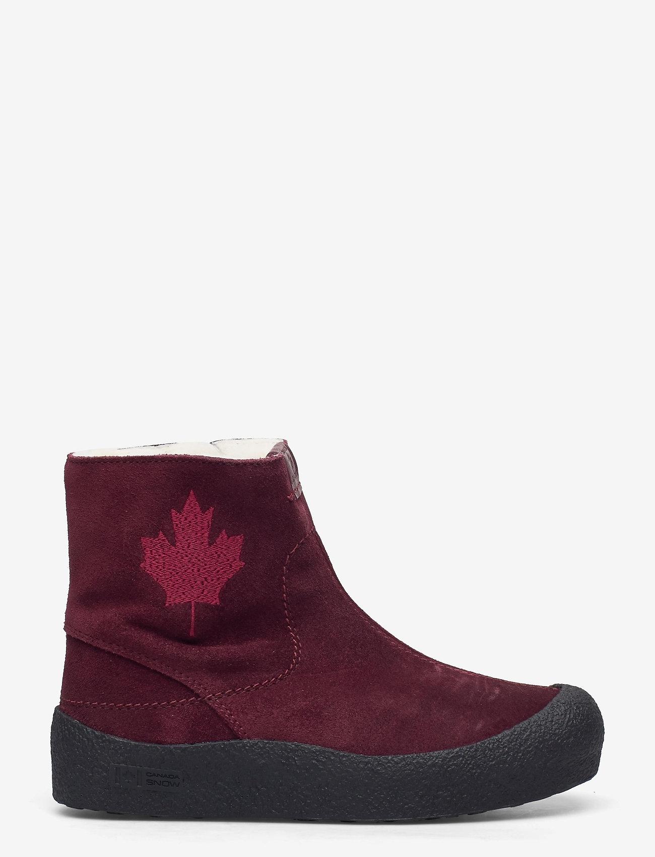Canada Snow - Quebec - platte enkellaarsjes - bordeaux - 1