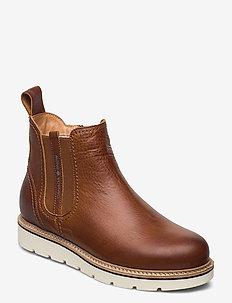 Aspen - flat ankle boots - cognac
