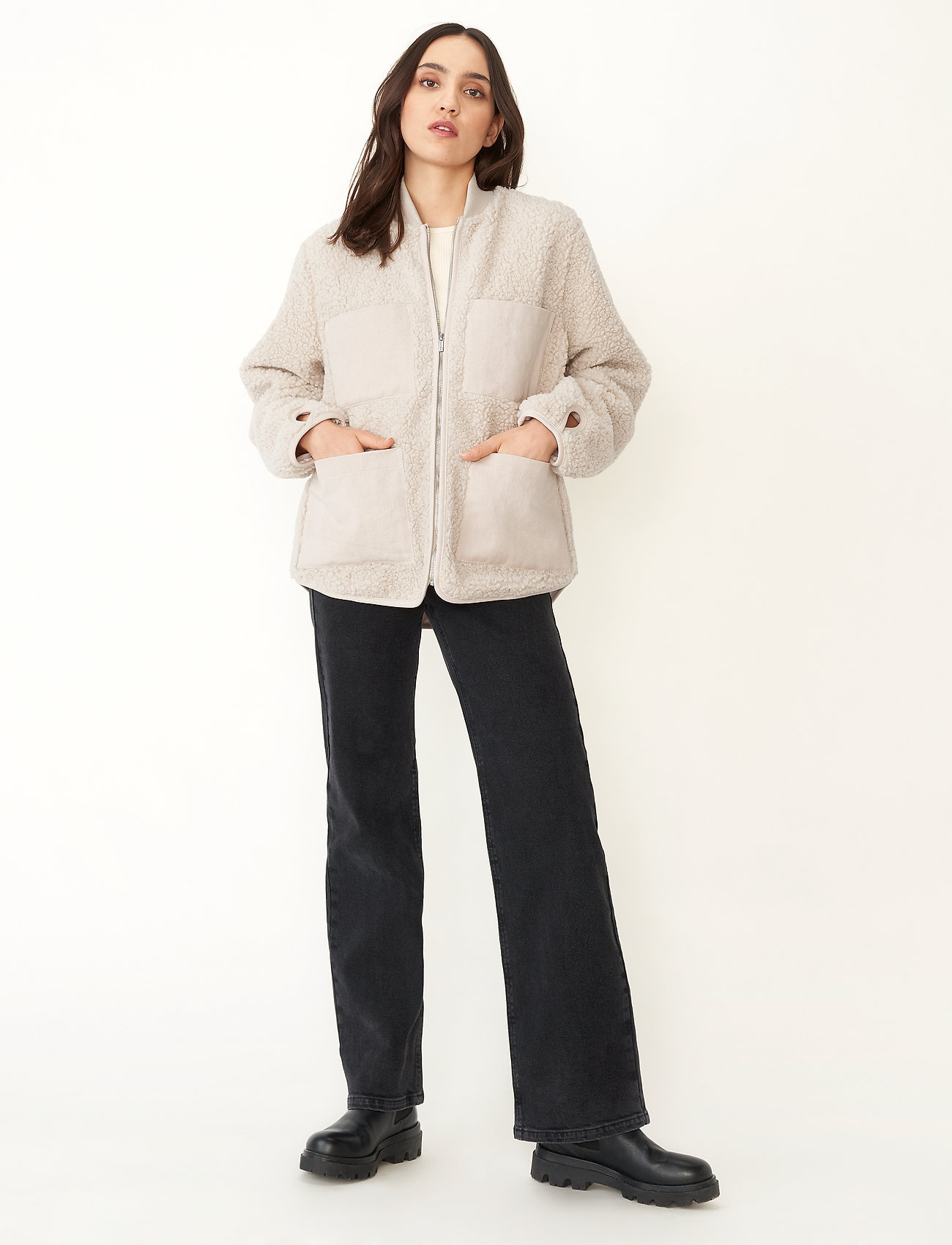 Carin Wester - Row - faux fur - offwhite - 0