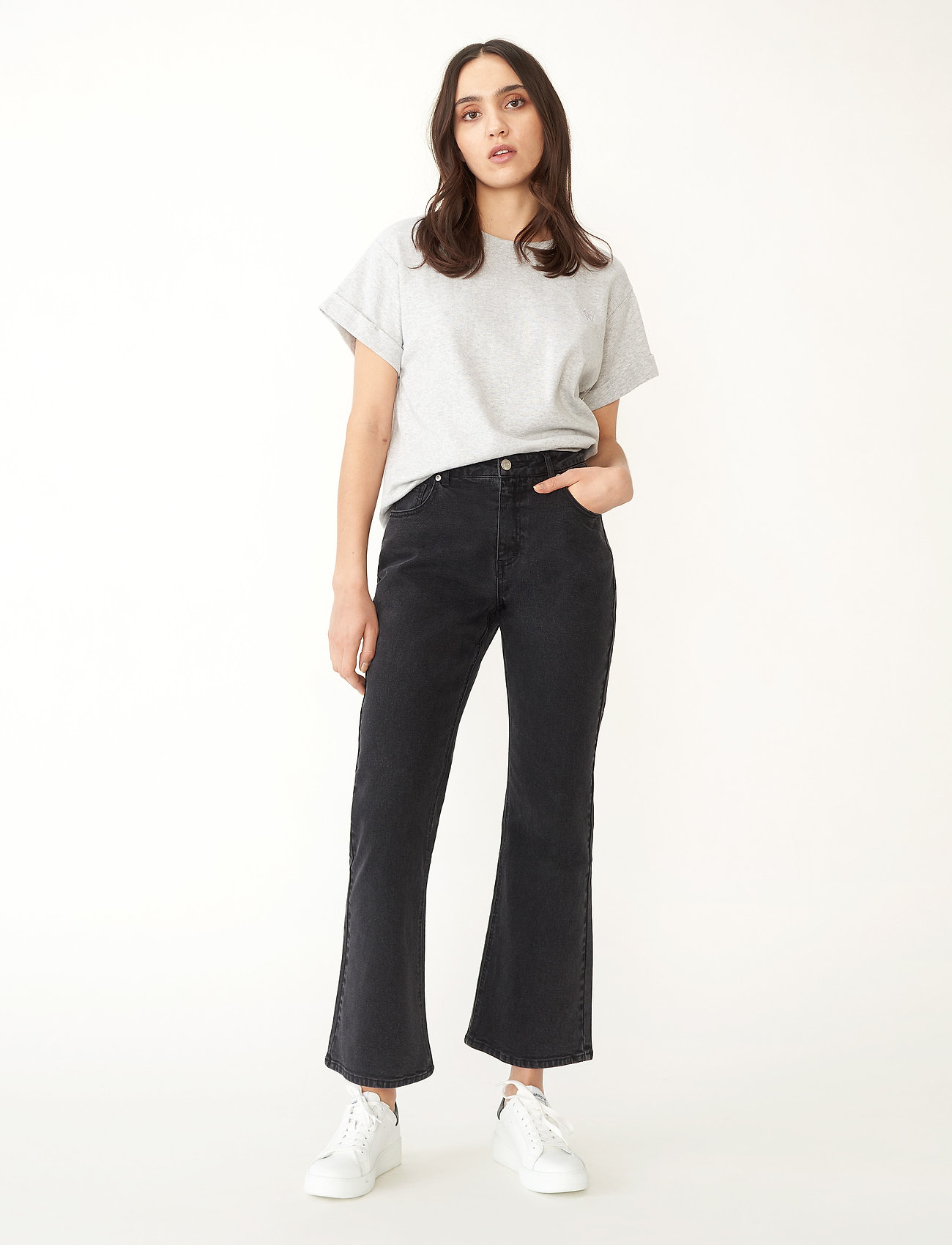 Carin Wester - Palmer - flared jeans - black/dk grey - 0