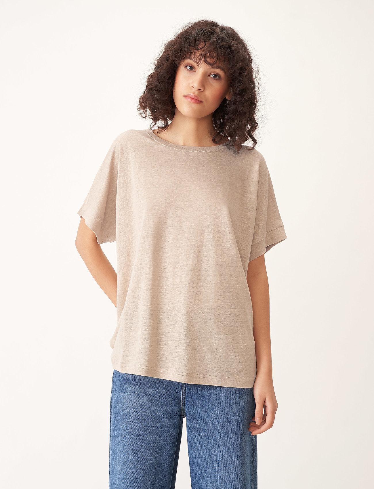 Carin Wester - Sense linen - t-shirts - beige - 0