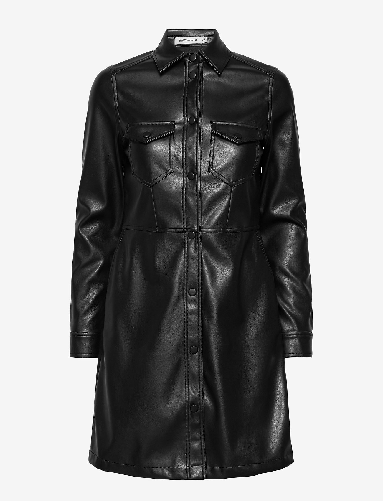 Carin Wester - Lucy PU - alledaagse jurken - black - 1