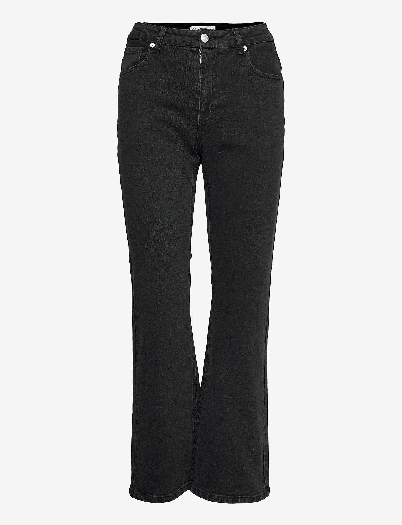 Carin Wester - Palmer - flared jeans - black/dk grey - 1