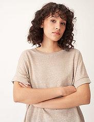 Carin Wester - Sense linen - t-shirts - beige - 4