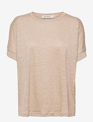 Carin Wester - Sense linen - t-shirts - beige - 1