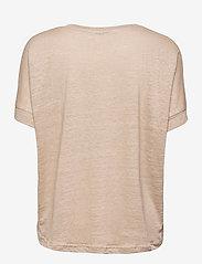 Carin Wester - Sense linen - t-shirts - beige - 2