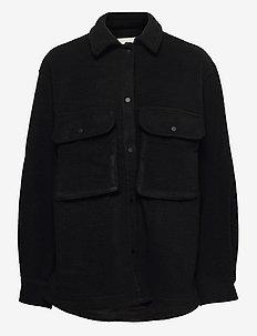 Bonzai fleece - wool jackets - black