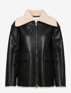 METTE - vestes en cuir - black