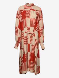 Maddie - sukienki na codzień - red check