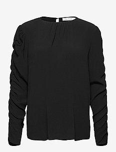 Brandy - blouses med lange mouwen - black