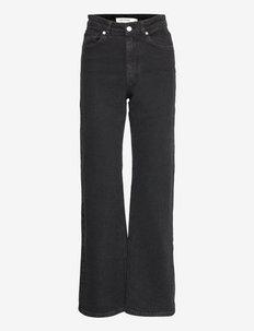 Cindy - szerokie dżinsy - black