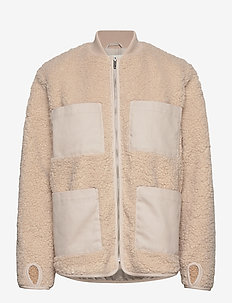 Row - faux fur - offwhite