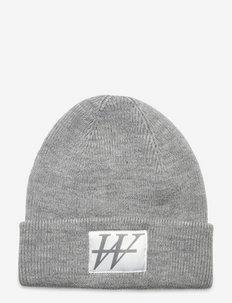 Jaquard logo beanie - kapelusze - light grey melange
