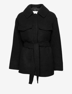 GLORIA - vestes en laine - black