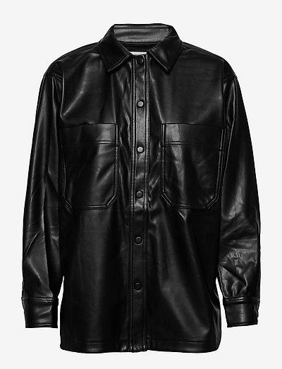 Edith PU - overshirts - black