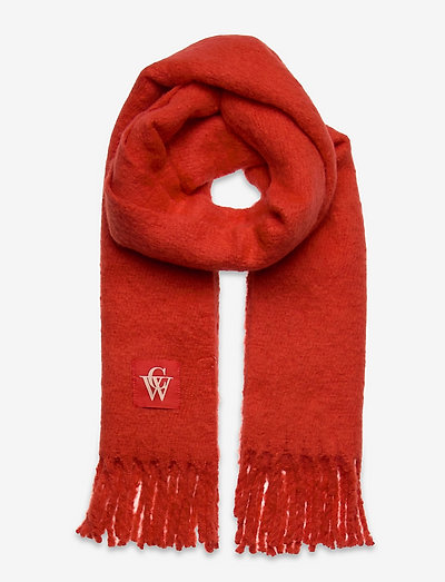 Brushed Scarf - wintersjalen - bright red