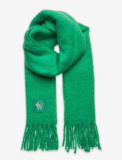 Brushed Scarf logo - halstørklæder - gumdrop green