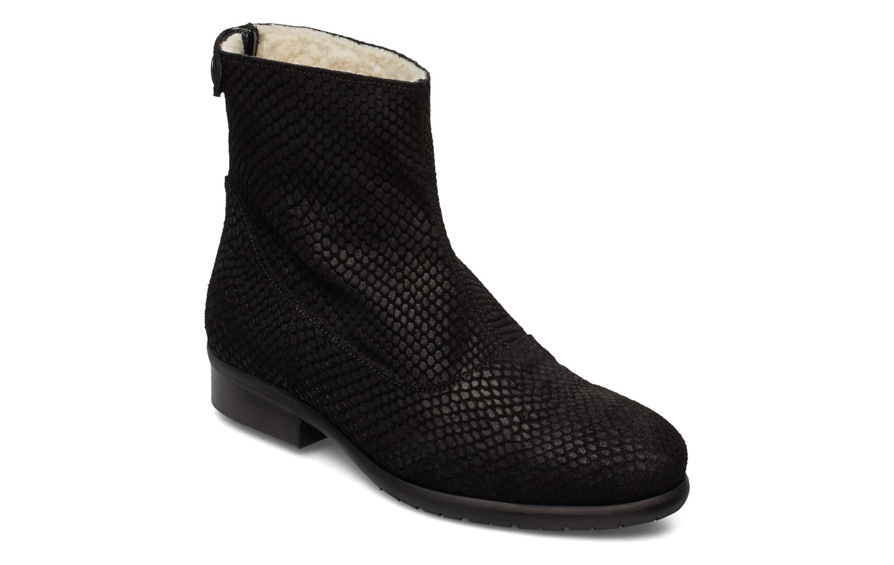 Carla F BOOTS - BLACK MUSTANG SNAKE SUEDE 100