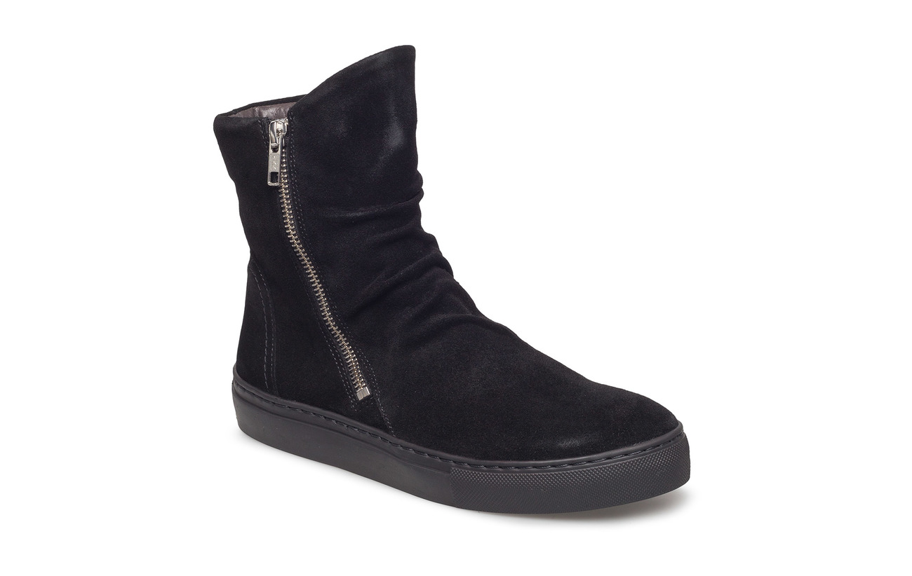 Carla F BOOTS - BLACK SUEDE 500
