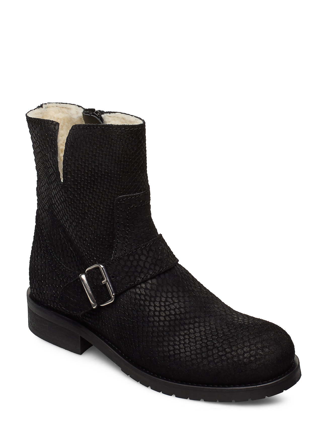 Image of Warm Lining 81923 Shoes Boots Ankle Boots Ankle Boot - Flat Sort Carla F (3406242203)