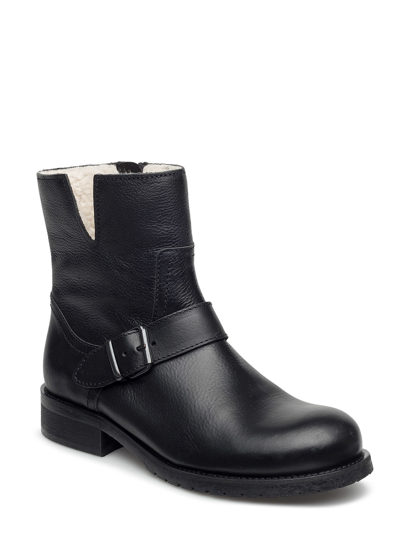 Image of Warm Lining 81923 Shoes Boots Ankle Boots Ankle Boot - Flat Sort Carla F (3406115341)