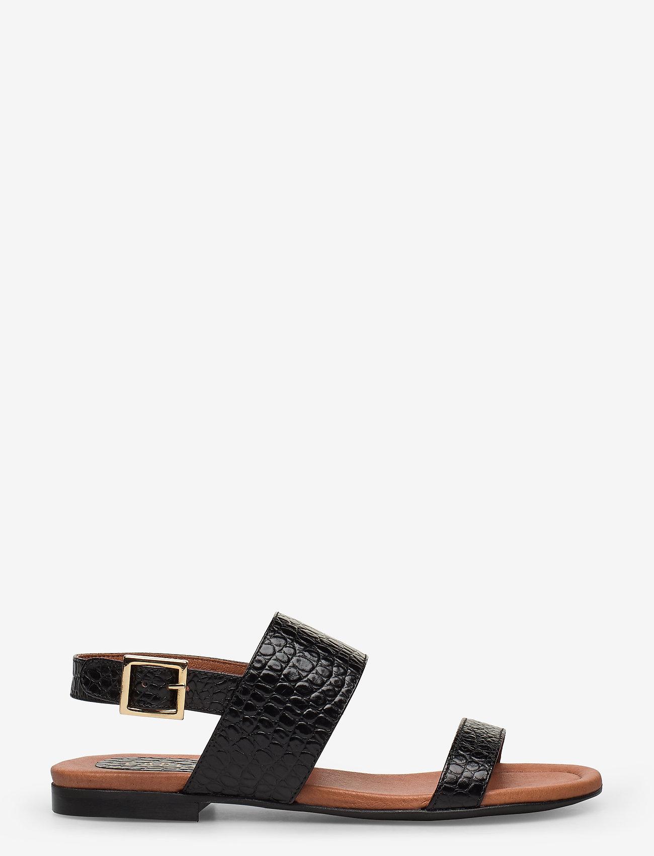 Carla F - Sandals 14010 - matalat sandaalit - black yango 10