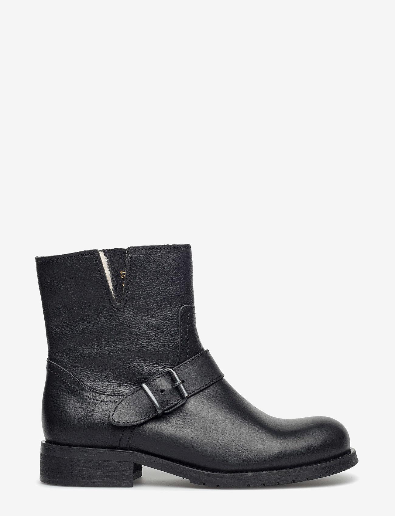 Carla F - Warm lining 81923 - flat ankle boots - black calf 80 - 1