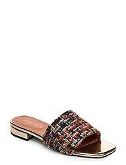 Sandals 18718 - BLACK BOUCLé/PLATIN 170