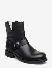 Carla F - Warm lining 81923 - flat ankle boots - black calf 80 - 0