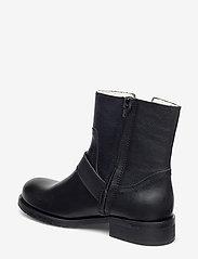 Carla F - Warm lining 81923 - flat ankle boots - black calf 80 - 2